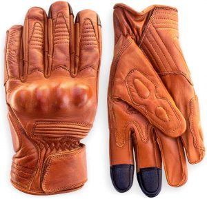 Indie Ridge Leather Motorcycle Gloves with Touchscreen